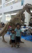 段ボール恐竜