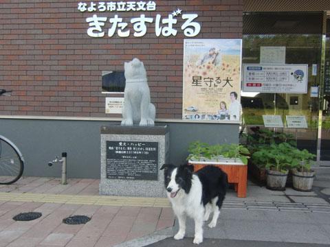星守る犬のハッピー像