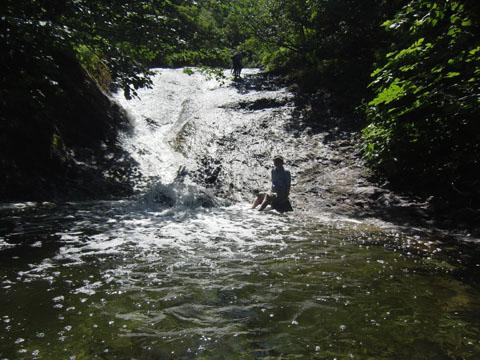 カムイワッカ 一の滝