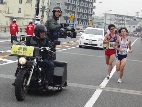 フルマラソンの先頭