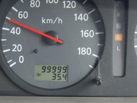 走行距離99999km