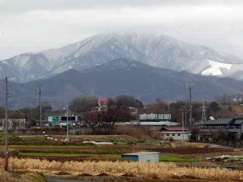 大山も雪が