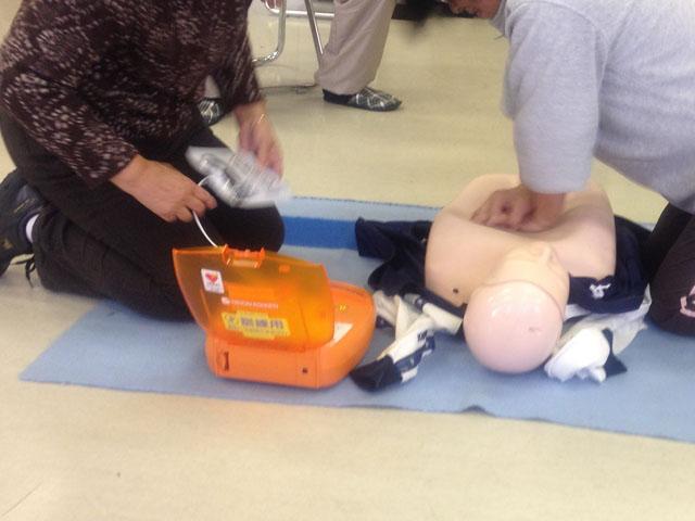 AEDの使い方講習