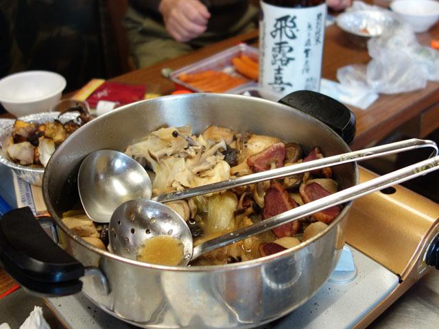 カモ鍋も美味しかった