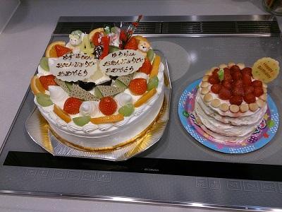 ケーキ大小