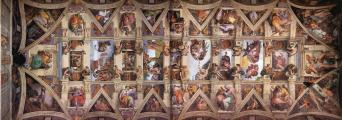 ミケランジェロ システィーナ礼拝堂天井画