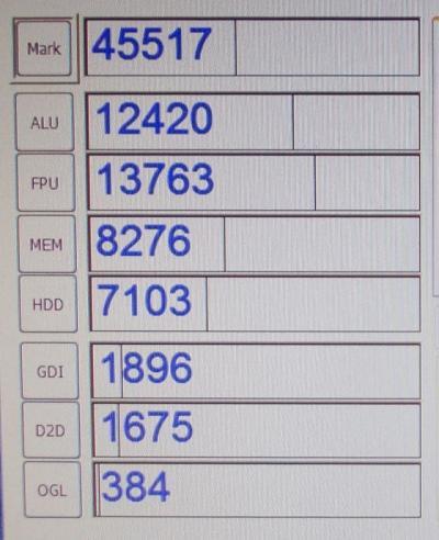 グラフィックボート(グラボnVidia GeForce 6600)をはずしてCrystalMark 2004R3で測定