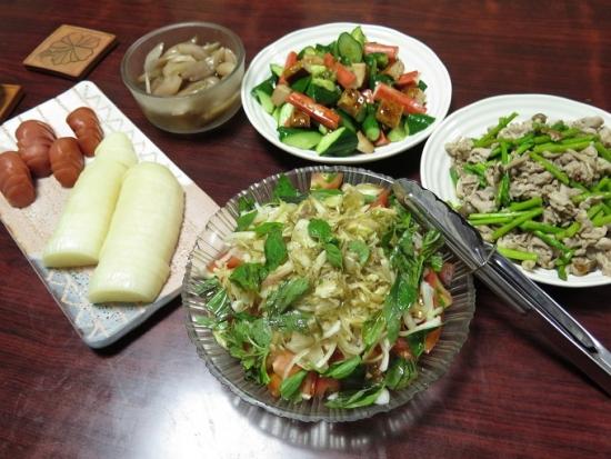 南木曽の恵み晩ご飯