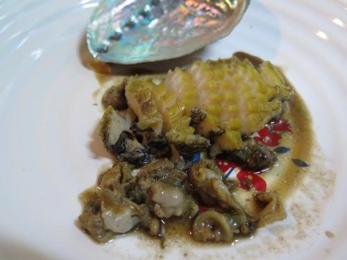 アワビのバターステーキ