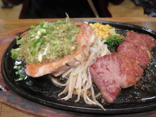 ステーキ&ねぎ塩チキンステーキ