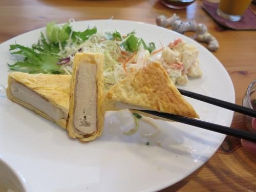 高野豆腐の豚卵巻き