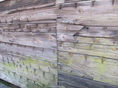 長濱 舟板塀