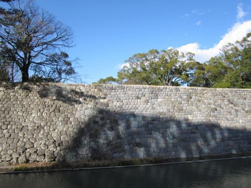 駿府城公園 修復された石垣