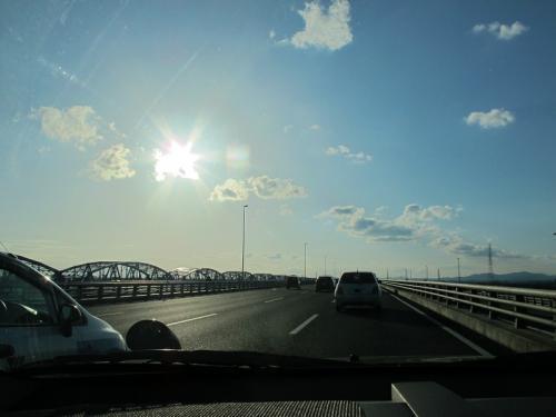 天竜川の太陽