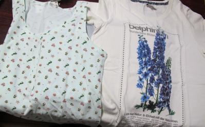 Tシャツとキャミソール