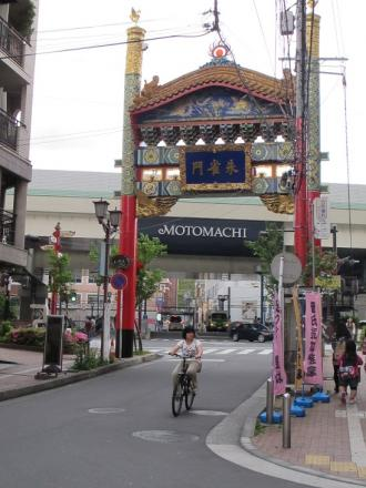横浜中華街 朱雀門