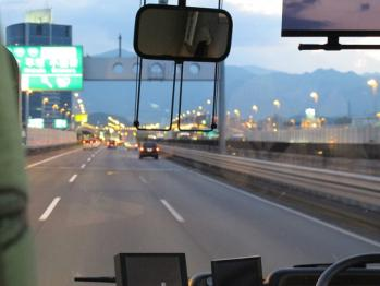 高速バスより・・・