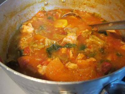 チキンと野菜のトマト煮