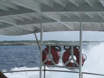 波照間からの高速船