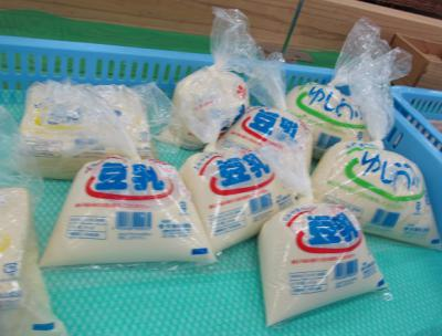 ゆし豆腐,豆乳