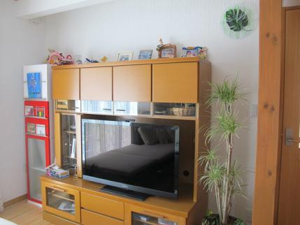 テレビ台と観葉植物