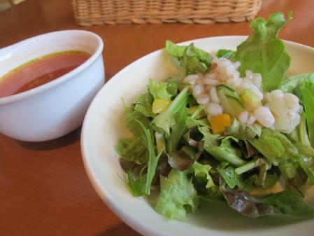 ミネストローネとプチプチ雑穀のサラダ