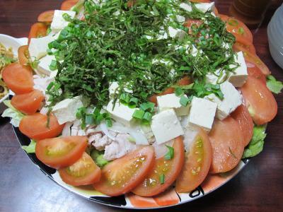 冷しゃぶと豆腐のサラダ