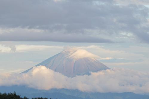 夏の赤富士