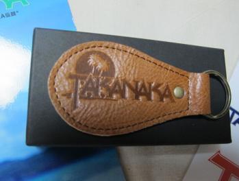 TAKANAKA革製キーホルダー