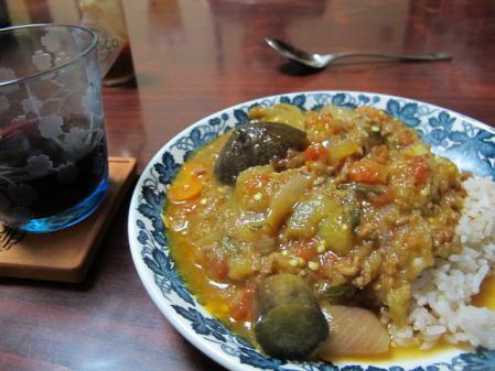 ひき肉と夏野菜のトマト煮