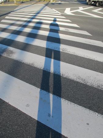 足が長い人と国道