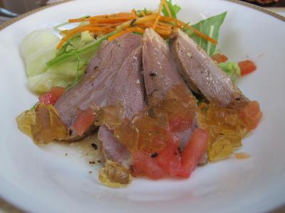 鴨ローストとにんじんのサラダ