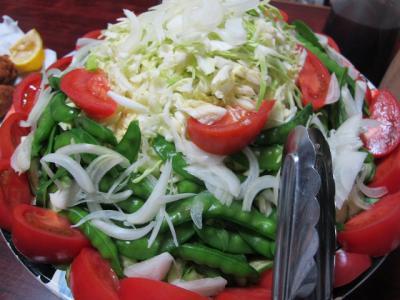キャベツの千切りサラダ