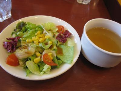 サラダ、スープ