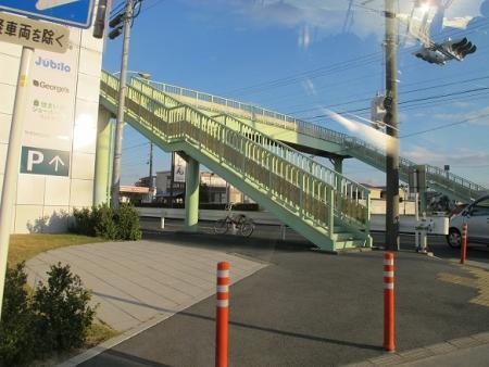 チャリと歩道橋