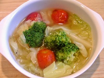 ブロッコリーのスープ煮のレシピ