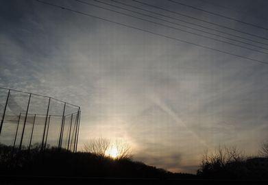 冬の夕日b