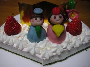 ひなケーキ完成