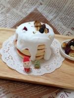 クリスマスパンケーキ画像