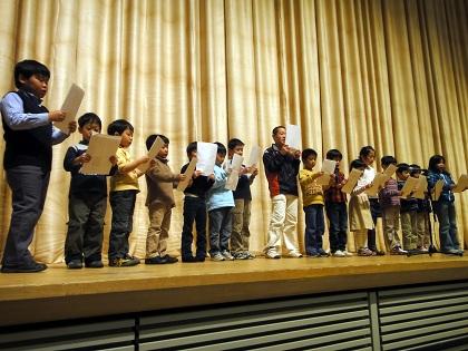 素読の集い参加児童の発表