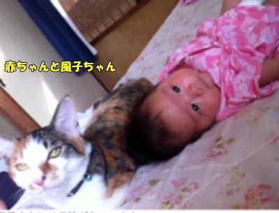 赤ちゃんと一緒に風子ちゃん