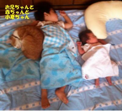 お兄ちゃんと赤ちゃんとねんねして