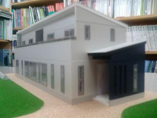 住宅模型東南側