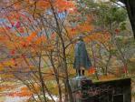 若山牧水の碑 紅葉だ