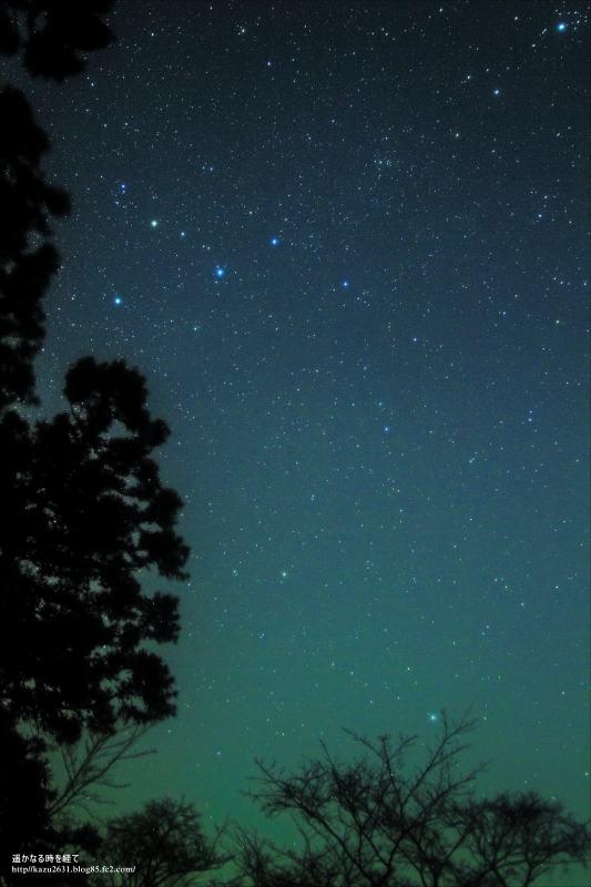 カシオペヤと北極星
