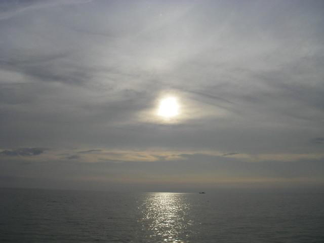 6時の太陽