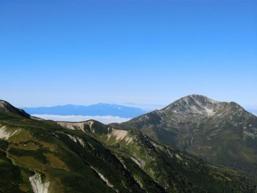 黒部五郎岳と白山