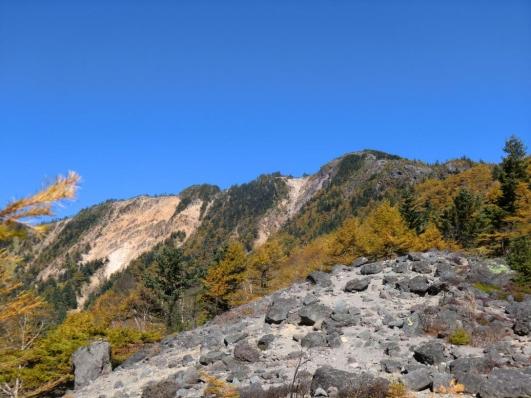 水ノ塔山と赤ゾレ