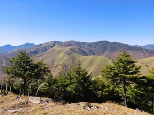 黒檜岳方向