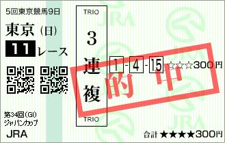 ジャパンC_的中1
